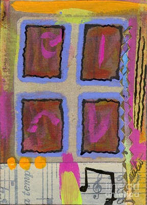 Mixed Media - The Back Windowpanes by Angela L Walker