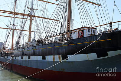 The Balclutha . A 1886 Square Rigged Cargo Ship At The Hyde Street Pier In Sf California . 7d14153 Art Print