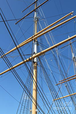 The Balclutha . A 1886 Square Rigged Cargo Ship At The Hyde Street Pier In Sf . Mast . 7d14158 Art Print