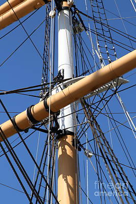 The Balclutha . A 1886 Square Rigged Cargo Ship At The Hyde Street Pier In Sf . Mast . 7d14159 Art Print