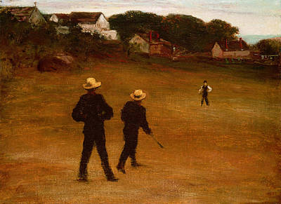 Softball Painting - The Ball Players by William Morris Hunt