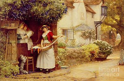 Village Life Painting - The Ballad Seller by Robert Walker Macbeth