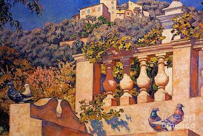 The Balustrade Art Print by Pg Reproductions