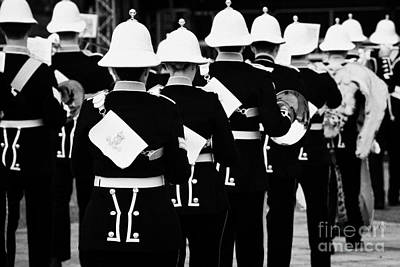 Marching Band Photograph - the band of HM Royal Marines Scotland at Armed Forces Day 2010 in Bangor County Down by Joe Fox