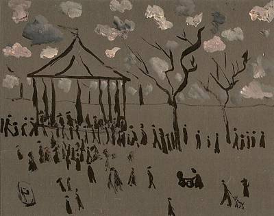 Shipping Mixed Media - The Bandstand by Peter  McPartlin