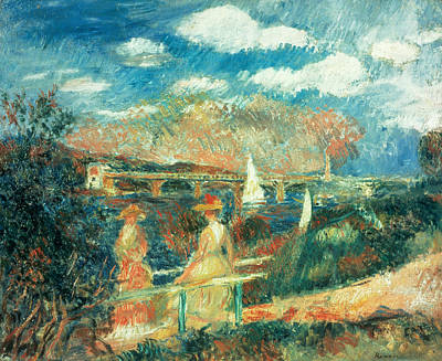 Galerie Painting - The Banks Of The Seine At Argenteuil by Pierre Auguste Renoir