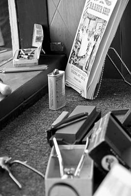 Photograph - The Barber Shop 11 Bw by Angelina Vick