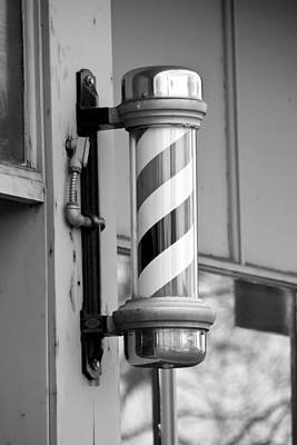 Photograph - The Barber Shop 4 Bw by Angelina Vick