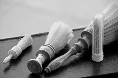 Photograph - The Barber Shop 6 Bw by Angelina Vick