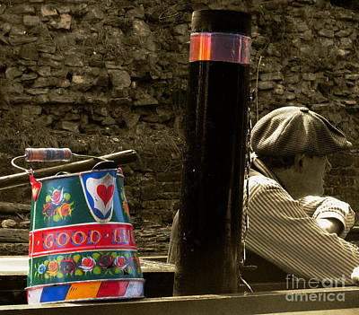 Water Jug Photograph - The Bargee by Rob Hawkins