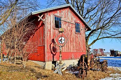 The Barn Art Print by Brenda Becker