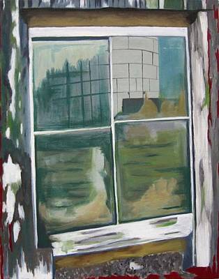 Painting - The Barn Window by Allison Reece