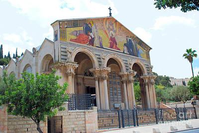 Digital Art - The Basilica Of Agony In Jerusalem Israel by Eva Kaufman