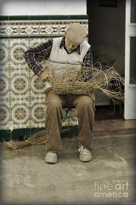 The Basket Maker Art Print by Mary Machare