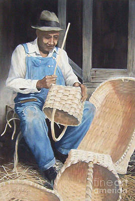 Painting - The Basket Maker ...sold  by Sandy Brindle