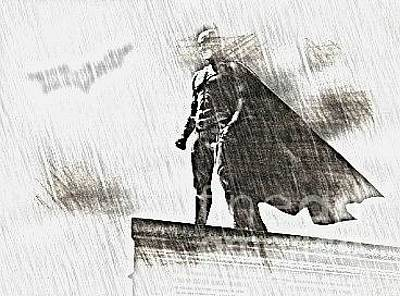 She-hulk Drawing - the Batman by Hywel Morgan
