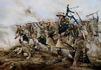Baba Painting - The Battle Of Achi Baba 1915 by Chris Collingwood