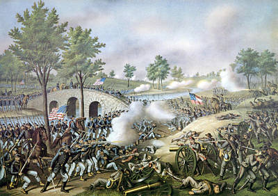 The Battle Of Antietam, September 17 Art Print by Everett