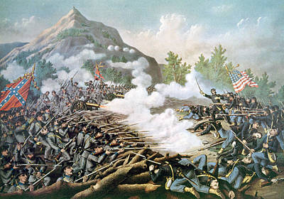Jt History Photograph - The Battle Of Kennesaw Mountain, June by Everett