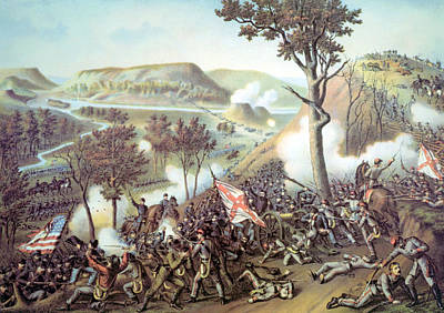 The Battle Of Missionary Ridge Art Print by Everett