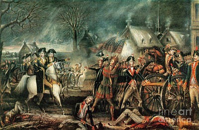 The Battle Of Trenton 1776 Art Print by Photo Researchers
