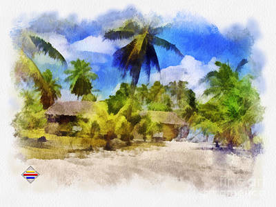 Painting - The Beach 01 by Vidka Art