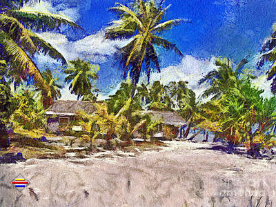 The Beach 02 Art Print by Vidka Art