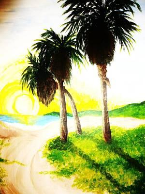 The Beach Art Print by Ragdoll Washburn
