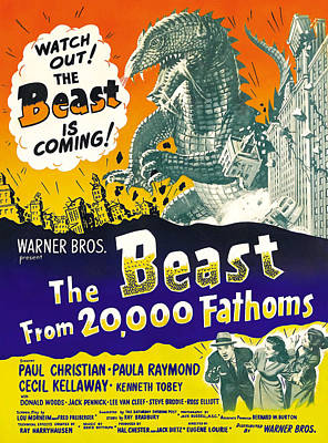 The Beast From 20,000 Fathoms, Advance Art Print by Everett