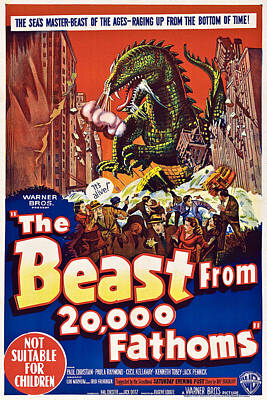 The Beast From 20,000 Fathoms Art Print by Everett