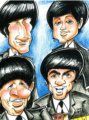 Fab Four Drawing - The Beatles by Big Mike Roate