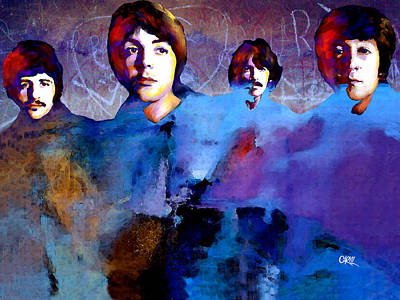 The Beatles Art Print by Carvil