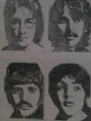 Fab Four Drawing - The Beatles by Mark Norman II