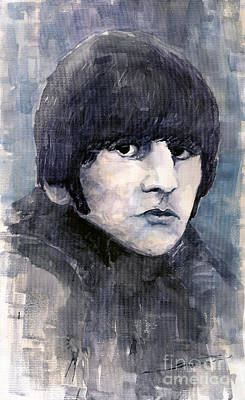 Musician Painting - The Beatles Ringo Starr by Yuriy  Shevchuk