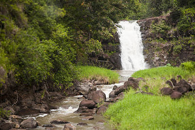 The Beautiful Waimea Falls On Oahu Art Print