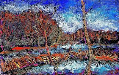 Eastern Townships Painting - The Beaver Dam by Ion vincent DAnu