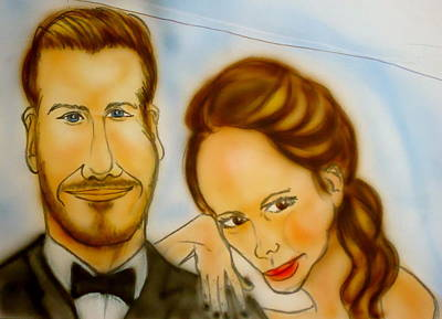 David Beckham Painting - The Beckhams by Pete Maier