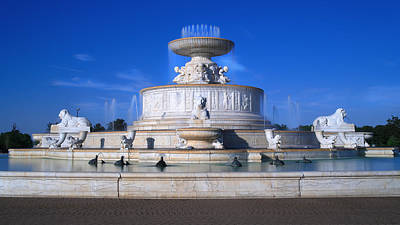 Stopper Digital Art - The Belle Isle Scott Fountain by Gordon Dean II