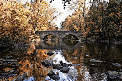 Phillies Digital Art - The Bells Mill Bridge In Autumn by Bill Cannon