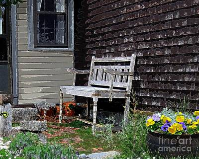 Digital Art - The Bench by Dale   Ford