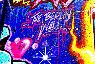 The Berlin Wall 3 Art Print by Mark Azavedo