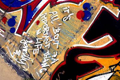 The Berlin Wall 4 Art Print by Mark Azavedo