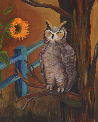 The Better Life- Owl Art Print by Debbie McCulley