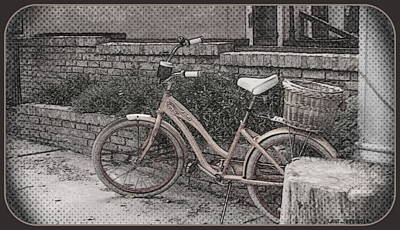 the Bicycle is waiting Art Print
