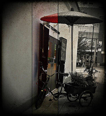 Photograph - The Bicycle's Umbrella by Lauren Williamson
