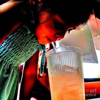 Grandkids Photograph - The Big Drink by John King
