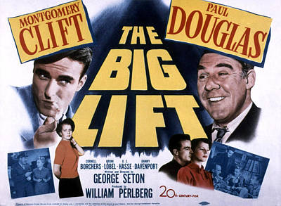 Fid Photograph - The Big Lift, Montgomery Clift, Paul by Everett