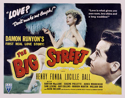 Posth Photograph - The Big Street, Lucille Ball, Henry by Everett