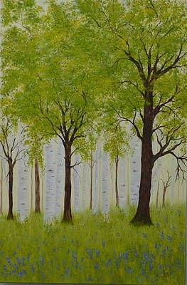 Painting - The Birch Grove by Flo Markowitz