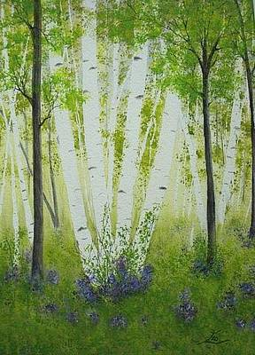 Painting - The Birches by Flo Markowitz